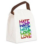 hate2love color2 Canvas Lunch Bag