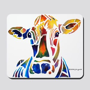 Whimzical Original Cow Art Mousepad