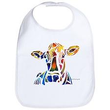 Whimzical Original Cow Art Bib