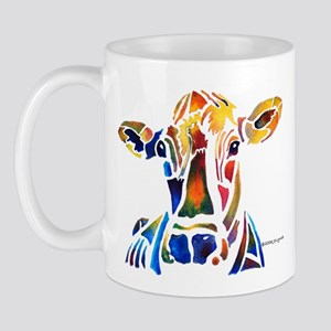 Whimzical Original Cow Art Mug
