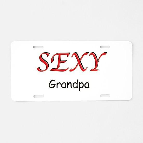 Sexy Grandpa Aluminum License Plate