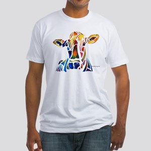 Whimzical Original Cow Art Fitted T-Shirt