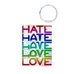 hate2love color2 Aluminum Photo Keychain
