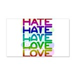 hate2love color2 20x12 Wall Decal