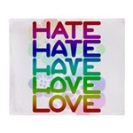 hate2love color2 Throw Blanket