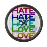 hate2love color2 Large Wall Clock