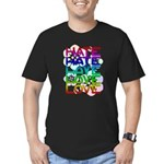 hate2love color2 Men's Fitted T-Shirt (dark)
