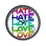 hate2love color2 Wall Clock