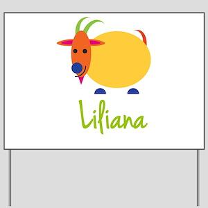 Liliana The Capricorn Goat Yard Sign