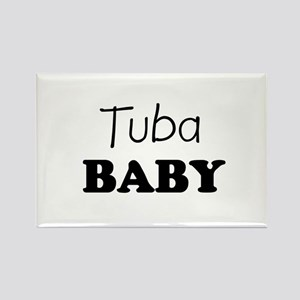 Tuba baby Rectangle Magnet