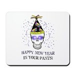 Happy New Year Pants Mousepad