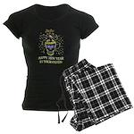 Happy New Year Pants Women's Dark Pajamas