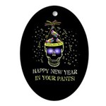 Happy New Year Pants Ornament (Oval)