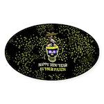 Happy New Year Pants Sticker (Oval 10 pk)