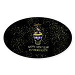 Happy New Year Pants Sticker (Oval 50 pk)