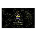 Happy New Year Pants Sticker (Rectangle 50 pk)