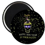 Happy New Year Pants Magnet