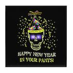 Happy New Year Pants Tile Coaster