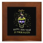 Happy New Year Pants Framed Tile