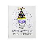Happy New Year Pants Throw Blanket