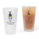 Happy New Year Pants Drinking Glass