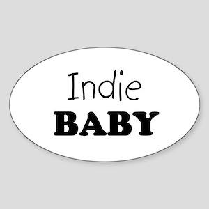 Indie baby Oval Sticker