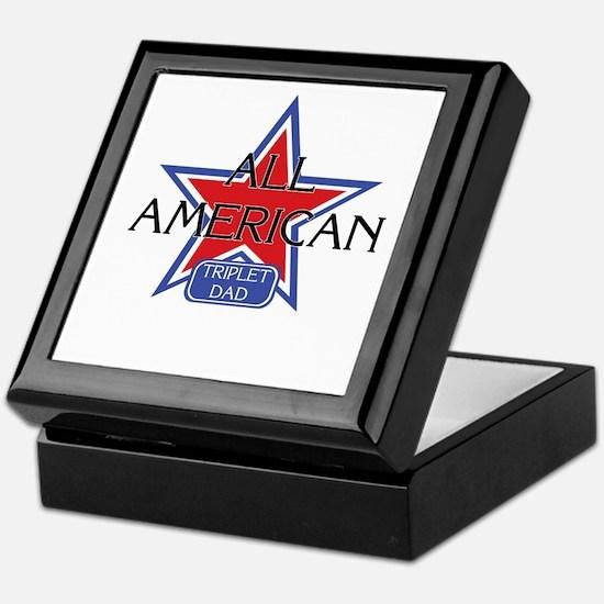 All American Triplet Dad Keepsake Box