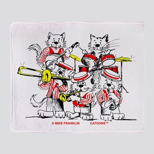 The Jazz Cats Throw Blanket