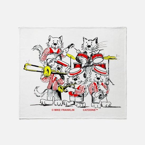 The Jazz Cats Throw Blanket