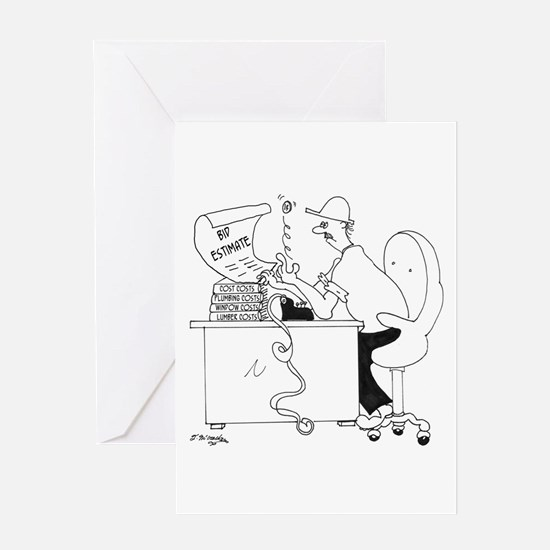 Bid Estimate by Coin Toss Greeting Card