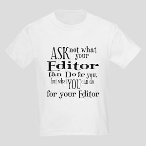 Ask Not Editor Kids Light T-Shirt
