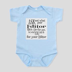 Ask Not Editor Infant Bodysuit