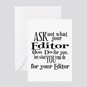 Ask Not Editor Greeting Card
