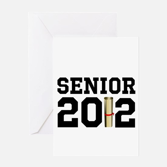 Senior 2012 (Diploma) Greeting Card