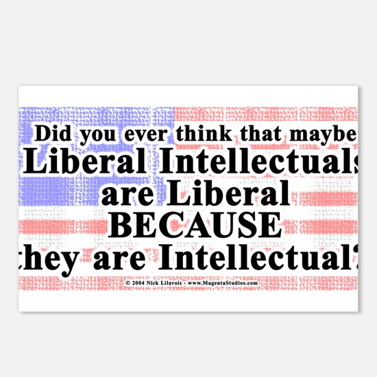 LiberalIntellectuals.png Postcards (Package of 8)