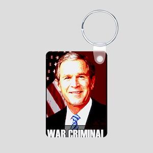 War Criminal Aluminum Photo Keychain