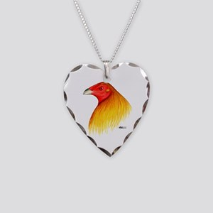 Gamecock Dubbed Necklace Heart Charm