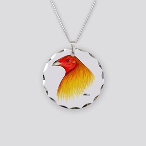 Gamecock Dubbed Necklace Circle Charm