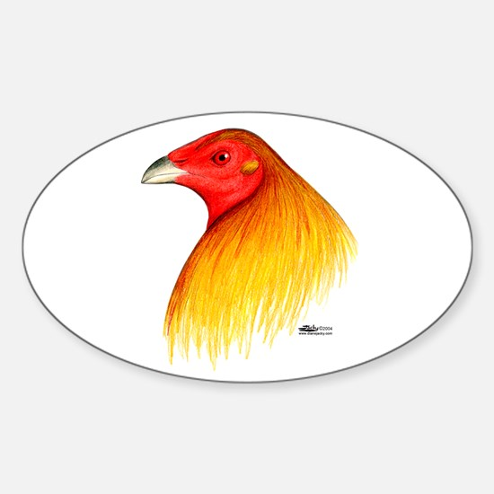 Gamecock Dubbed Sticker (Oval)