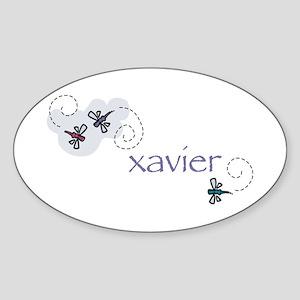 Xavier Oval Sticker