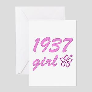 1937 Girl Greeting Card