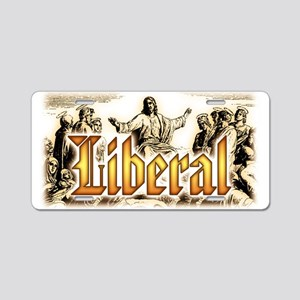 Jesus square Aluminum License Plate
