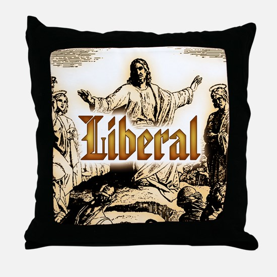 Jesus square.png Throw Pillow