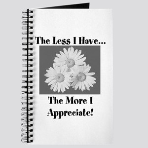The less I have Journal