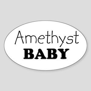 Amethyst baby Oval Sticker