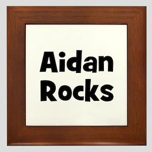 Aidan Rocks Framed Tile