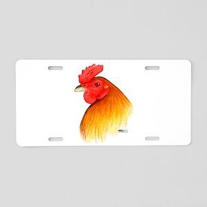 Gamecock Pea Comb Aluminum License Plate