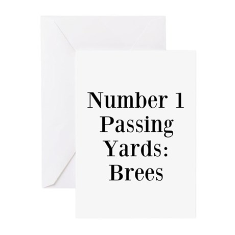 Number 1 Passing Yards: Brees Greeting Cards (Pk o