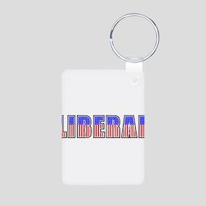Liberal Aluminum Photo Keychain