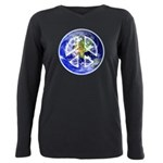 Peace on Earth Plus Size Long Sleeve Tee